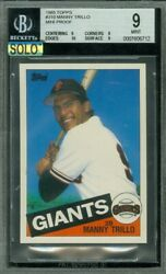1985 Topps Mini 310 Manny Trillo Bgs 9 Mac Solo Finest Graded 100 Cards Made