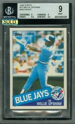 1985 Topps Mini 75 Willie Upshaw Bgs 9 Mac Solo Finest 100 Cards Made