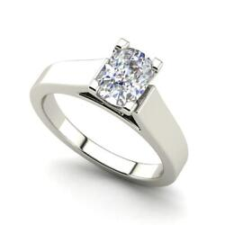 Cathedral 0.9 Carat Vs1/d Oval Cut Diamond Engagement Ring White Gold