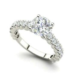 Solitaire 1.45 Carat Vs2/f Round Cut Diamond Engagement Ring White Gold