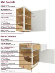 Brand new set of utility cabinets and base drawers by Ideal Cabinetry