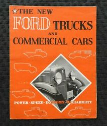 1932-1933 Ford Trucks And Commercial Cars Sales Brochure Model T V-8 Pick-up Rare