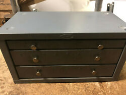 Machinist Lathe Mill Machinist Huot Bench Top Drill Cabinet With Drills B Bsmt
