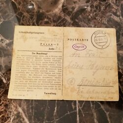 1944 Germany Posen 2 Concentration Camp Postcard Cover Kz