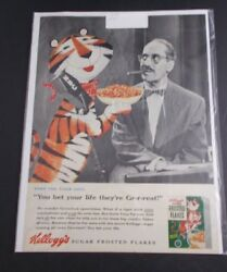 +/ Tony The Tiger Cereal Groucho Marx Advertisement-1925 Magazine Page Vintage
