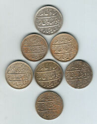 India - Bombay And Madras Presidency 19th Century Rupees X 7. Various Types