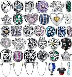 925 Sterling Silver NEW ARRIVALS #2 Charms fit European Charm Bracelet