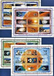 25 Complete Sets Of 4 Grenada Stamp Sheets And 3 Souvenir Exploration Of Mars.
