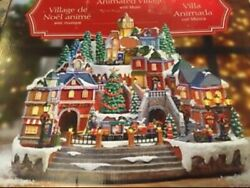 2018 Christmas Animated Holiday Musical Winter Village / Moving Train And 8 Songs