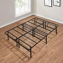 Mainstays 14 High Profile Foldable Steel Bed Frame, Powder-coated Steel, Full