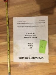 Cub Cadet 46 Snow Blade Owner's Manual Model 190-822-oem 7 Pages