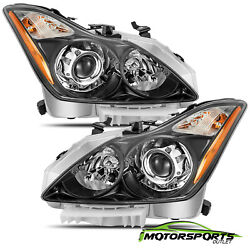 Polished Black For 2008 2015 Infiniti G37 Q60 Coupe Factory Style Headlights $415.49