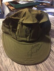 Jim Nabors Gomer Pyle Hand Signed Autographed Marines Hat One Of A Kind Coa