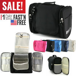 Toiletry Hanging Bag Travel Cosmetic Kit Large Essentials Organizer Waterproof $12.89