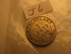 Major Error One Of A Kind Newfoundland 1908 Hooked 8 5 Cent Silver Coin Idj6.