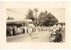 Majorette Marching Band Parade Girl Motorcycle Cop High Point Nc 1938 Photo