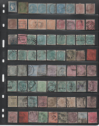 India 1840-1899 Queen Victoria Valuable Collection 105 Stamps Unckecked 1865 8a