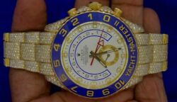 Rolex Yellow Gold Yachmaster 2 2900 Diamonds Honeycomb Setting 25 Carats Video
