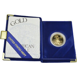 1999-w American Gold Eagle Proof 1/2 Oz 25 In Ogp