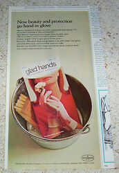 1968 Print Ad - Glad Hands - Faultless Rubber Company Ashland Ohio Advertising