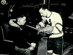 Ted Kennedy Autographed 8x10 Black And White Photo Signed Coa Nhl Hof 1966 Leafs