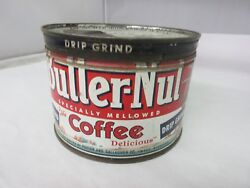 Vintage Butternut Coffee Tin Advertising Collectible Graphics M-78