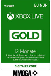 12 Monate Xbox Live Gold Mitgliedschaft Card - Xbox One And 360 Download Code - Eu