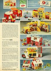 Vintage Fisher-price Little People Figures Vehicles Playsets And Accessories