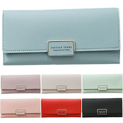 US WOMENS LADIES DESIGNER GENUINE SOFT LEATHER WALLET CREDIT CARD HOLDER PURSE $13.86