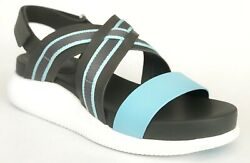 Cole Haan Womenand039s 2 Zerogrand Criss Cross Sandal Shoe Blue White 10.5 New In Box