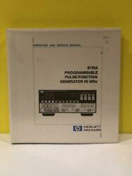 Hp 8116a Programmable Pulse/function Generator 50 Mhz Operating + Service Manual