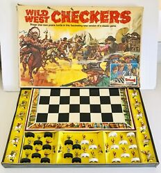 Rare Vintage 1970's Tri-ang Toys Wild West Checkers Draughts Triang Board Game