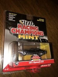 1971 Plymouth GTX GLOSS BLACK 2016 RACING CHAMPIONS MINT NIP RC 1 64