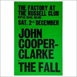 John Cooper Clarke/the Fall 1978 Factory/russell Club Concert Poster Uk