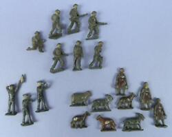 Collection Of Vintage Lead Soldiers Army, Navy, Farm Animals And Figures Ho/oo