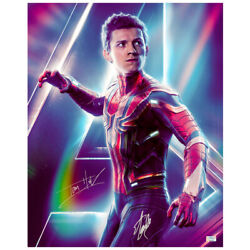 Tom Holland Stan Lee Autographed Avengers Infinity War Spider-man 16x20 Photo