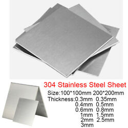 100100mm 200200mm 304 Stainless Steel Sheet Metal Plate Thick 0.3 0.4 0.5-3mm