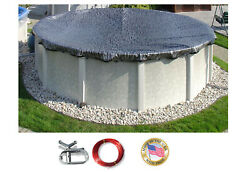 Hpi Enviro Mesh Above Ground Round And Oval Swimming Pool Winter Cover - 8 Yr Wty
