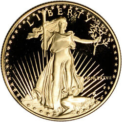 1987-p American Gold Eagle Proof 1/2 Oz 25 - Coin In Capsule