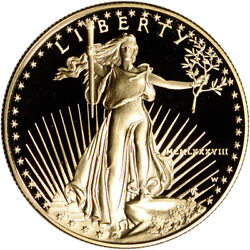 1988-w American Gold Eagle Proof 1 Oz 50 - Coin In Capsule