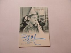 2019 Twilight Zone Rod Serling Edition Bill Mumy As Billy Bayles Autograph A171