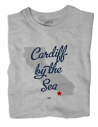 Cardiff-by-the-sea California Ca Calif T-shirt Map