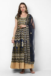 Stylish Traditional Navy Blue Printed Anarkali For Women And Girls