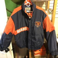 Vintage Competitor Nfl Chicago Bears Football Jacket Coat Size Xl Pro Line