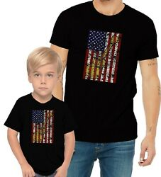 Guitar Us Flag Adults Mans And Womens And Kids And Boy And Girl T-shirt