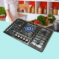 Top 34 Stainless Steel Built-in 5 Burners Stoves Cooktop Ng Lpg Gas Hob Cooker