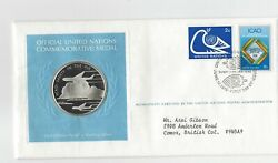 1978 Icao Safety In The Air Franklin Mint Sterling Silver Medallion