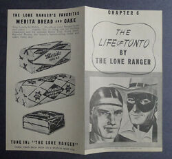 1940and039s Merita Bread The Life Of Tonto By Lone Ranger Chapter 6