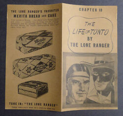 1940and039s Merita Bread The Life Of Tonto By Lone Ranger Chapter 10