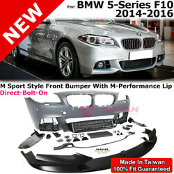 M-Performance Style Front Lip Bumper PDC M Sport For 14-16 BMW 5 Series F10 LCI